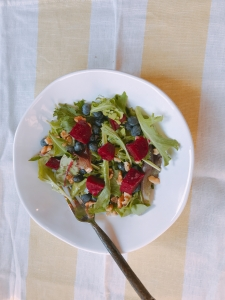 Greens, Beets & Blueberry Salad