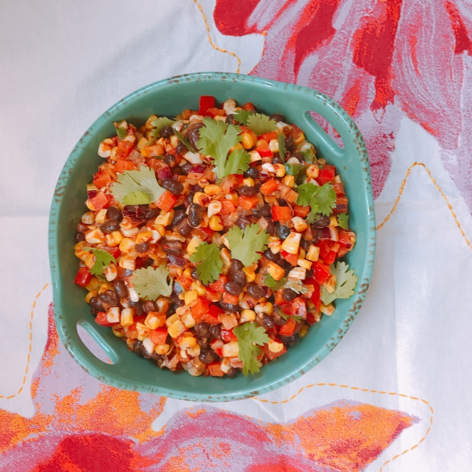 spicy chipotle black bean corn salsa