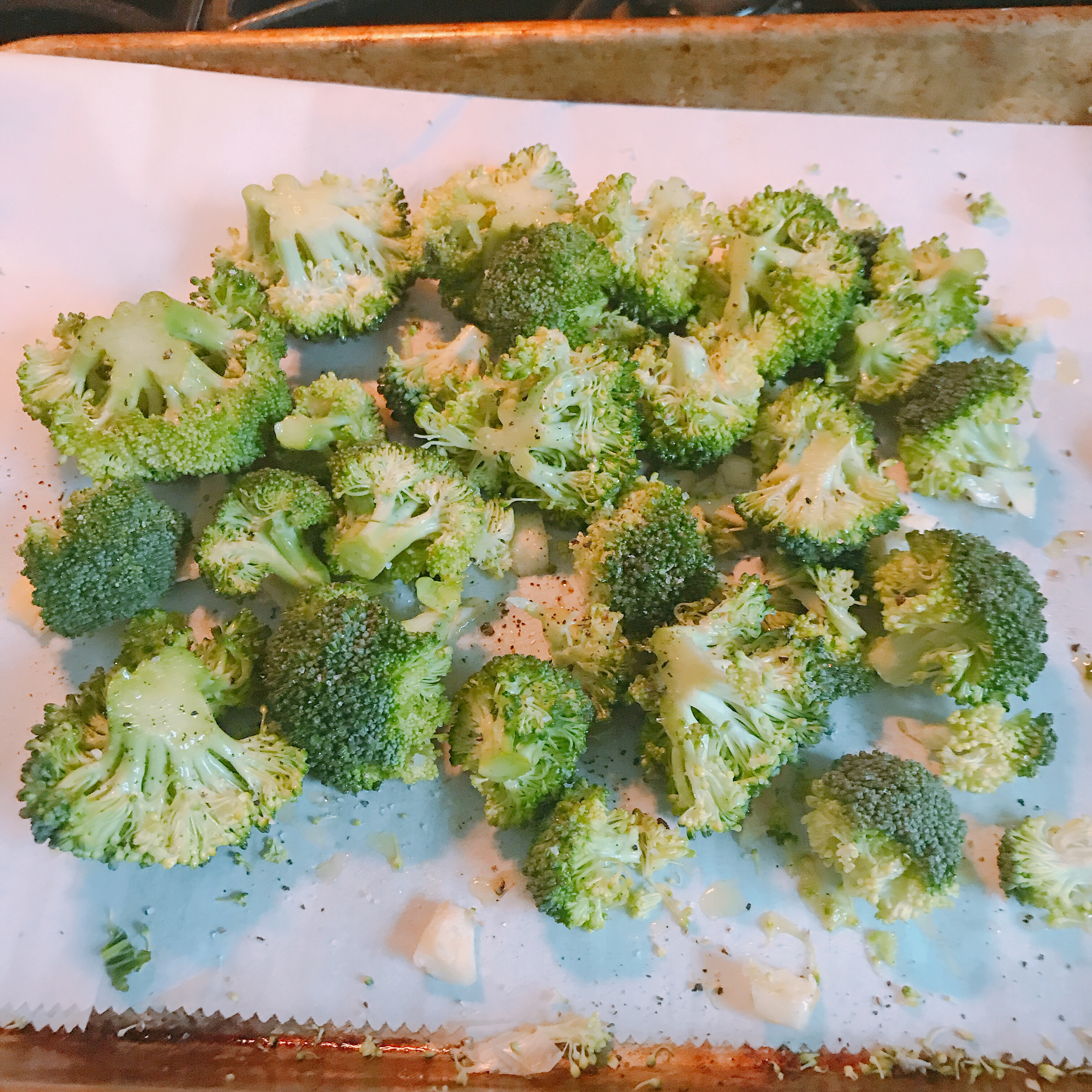 Broccoli ready to roast