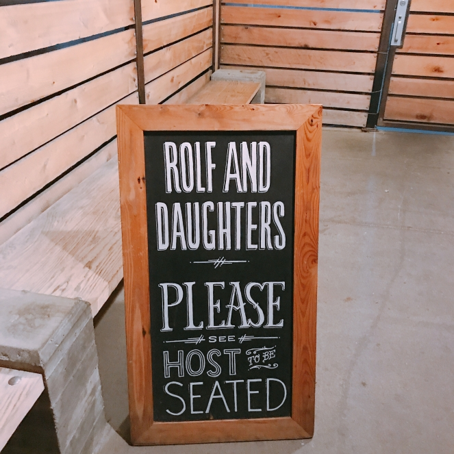 Rolf & Daughters, Nashville ,TN Industrial space with family style tables. The food is seasonal, We had two pastas that rival anything i ate in Italy.